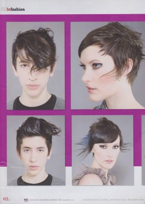 model in hairdressers journal - Hairdresser Bath