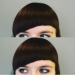 Arched fringe hair cut