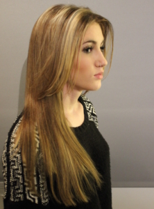 Long sleek hairstyle - Hairdresser Bath