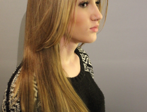Beautiful blonde colour correction