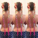 rainbow braids - Hairdresser Bath