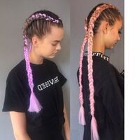 Abi Pink Dutch Braid