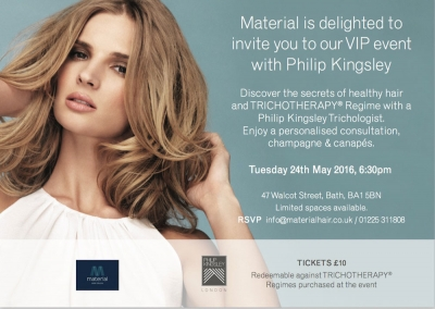 Material Hair Healthy Hair Event Invite - Hairdresser Bath