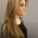 Long sleek hairstyle - Hairdresser Bath