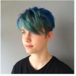 Peacock Coloured Hair - Hairdresser Bath