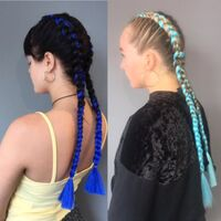 Abi Blue Dutch Braid